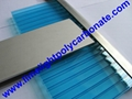 1mm wall thickness aluminium H profile for 8mm & 10mm polycarbonate hollow sheet