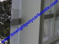 1mm wall thickness aluminium H profile for 8mm & 10mm polycarbonate hollow sheet 10