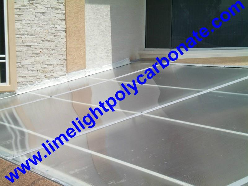 1mm wall thickness aluminium H profile for 8mm & 10mm polycarbonate hollow sheet 11