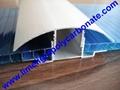 aluminium cap & base profile polycarboate sheet accessory aluminium H connector 10