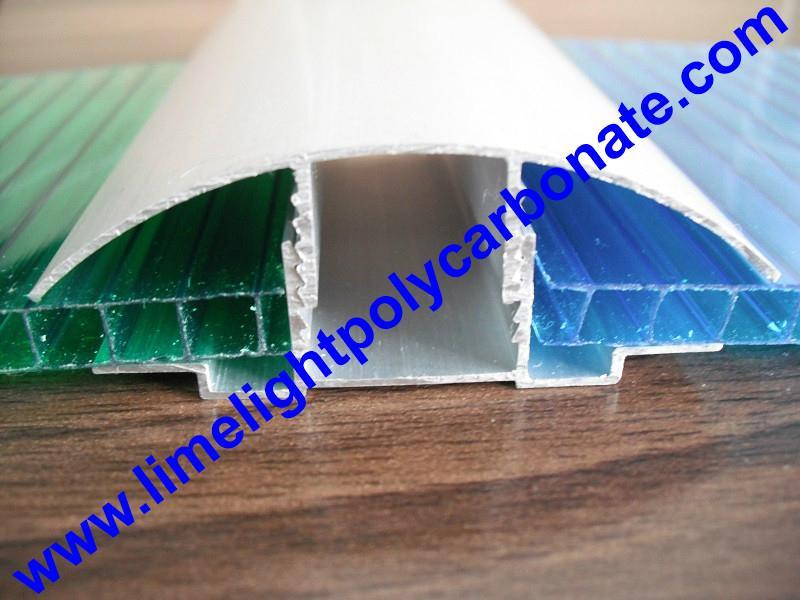 aluminium cap & base profile polycarboate sheet accessory aluminium H connector 11