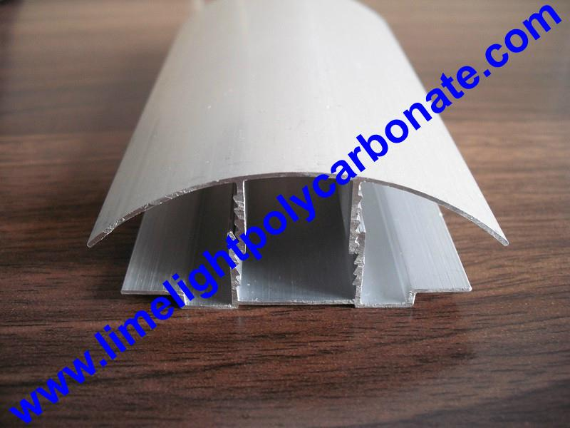 aluminium cap & base profile polycarboate sheet accessory aluminium H connector 8