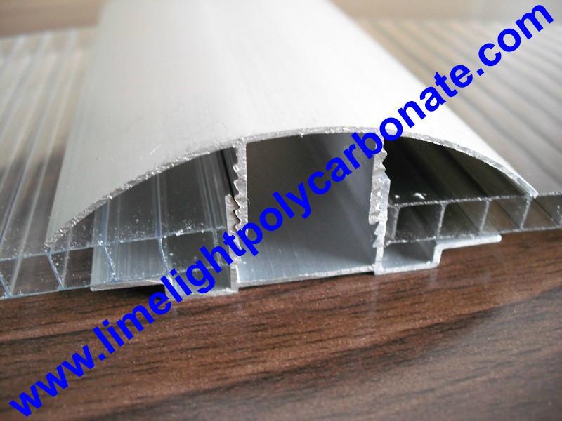 aluminium cap & base profile polycarboate sheet accessory aluminium H connector 12