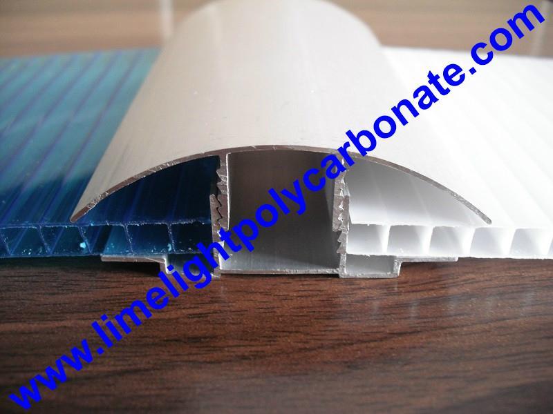 aluminium cap & base profile polycarboate sheet accessory aluminium H connector 2