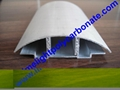 aluminium cap & base profile polycarboate sheet accessory aluminium H connector 9