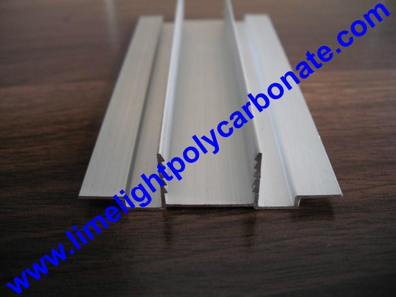 aluminium cap & base profile polycarboate sheet accessory aluminium H connector 5