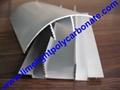 aluminium cap & base profile polycarboate sheet accessory aluminium H connector