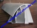aluminium cap & base profile polycarboate sheet accessory aluminium H connector 19
