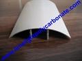 aluminium cap & base profile polycarboate sheet accessory aluminium H connector 4