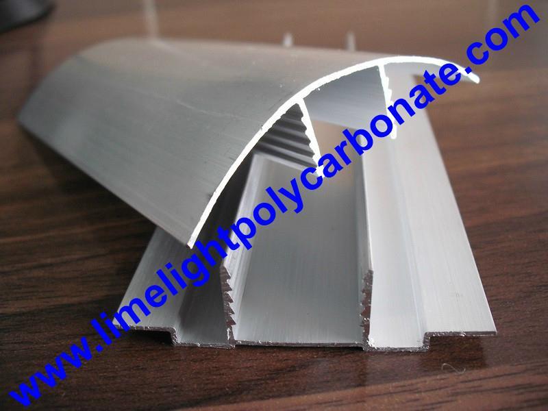aluminium cap & base profile polycarboate sheet accessory aluminium H connector 7
