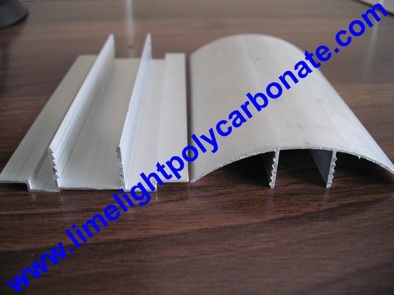 aluminium cap & base profile polycarboate sheet accessory aluminium H connector 6