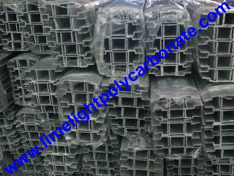 aluminium cap & base profile polycarboate sheet accessory aluminium H connector 16