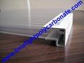 aluminium U profile aluminium glazing
