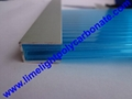 aluminium profile aluminium U profile polycarbonate sheet profiles & accessories