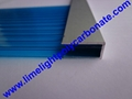 DIY aluminium U profile for 6mm 8mm 10mm polycarbonate sheet end sealing closure