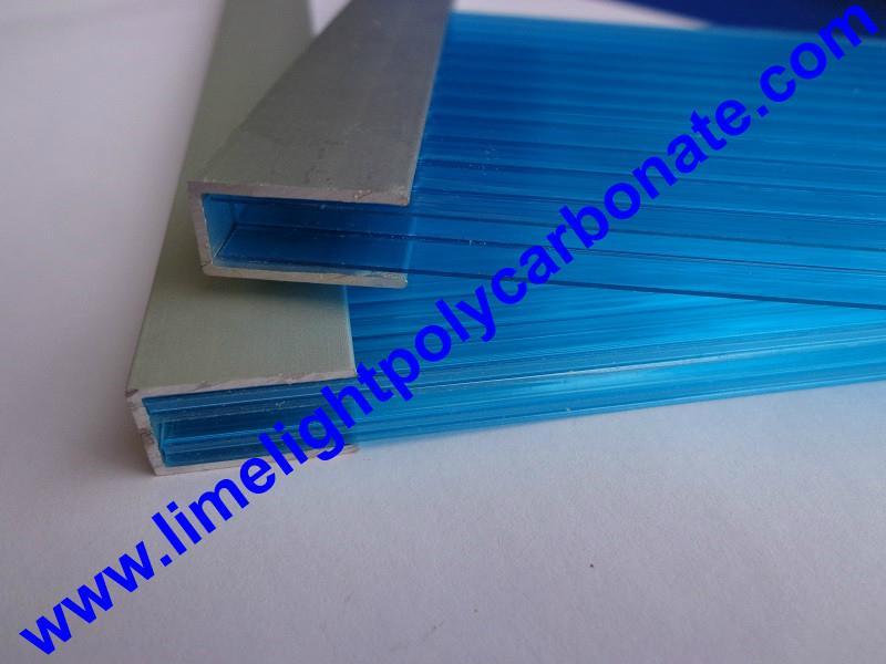 Aluminium Profile Aluminium U Profile Polycarbonate Sheet