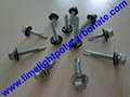 Self drilling metal screw with EPDM gasket for polycarbonate sheet & PVC sheets