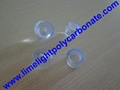 PVC waterproof clear screw cap for