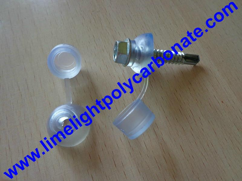 PVC waterproof clear screw cap for polycarbonate sheets and PVC roofing sheets 2