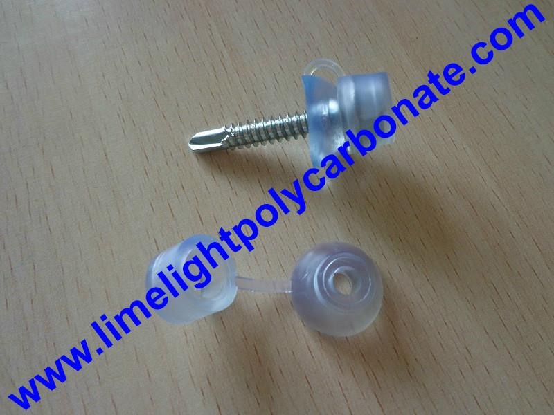 PVC waterproof clear screw cap for polycarbonate sheets and PVC roofing sheets 3