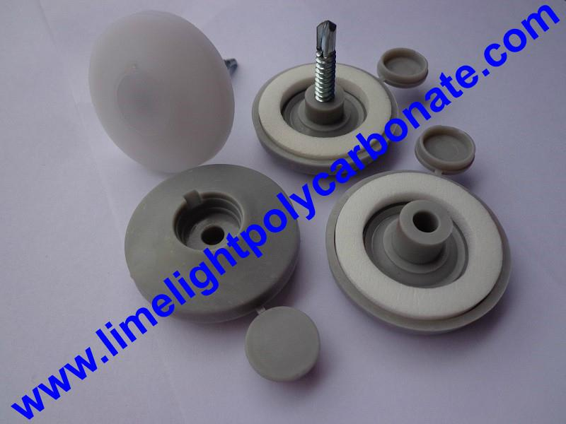 polycarbonate sheet screw button