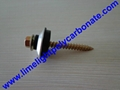 EPDM gasket with metal cap EPDM washer polycarbonate sheet screw accessories