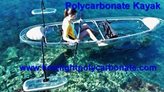 Polycarbonate kayak with outrigger clear kayak with stabiliser clear canoe (Hot Product - 1*)