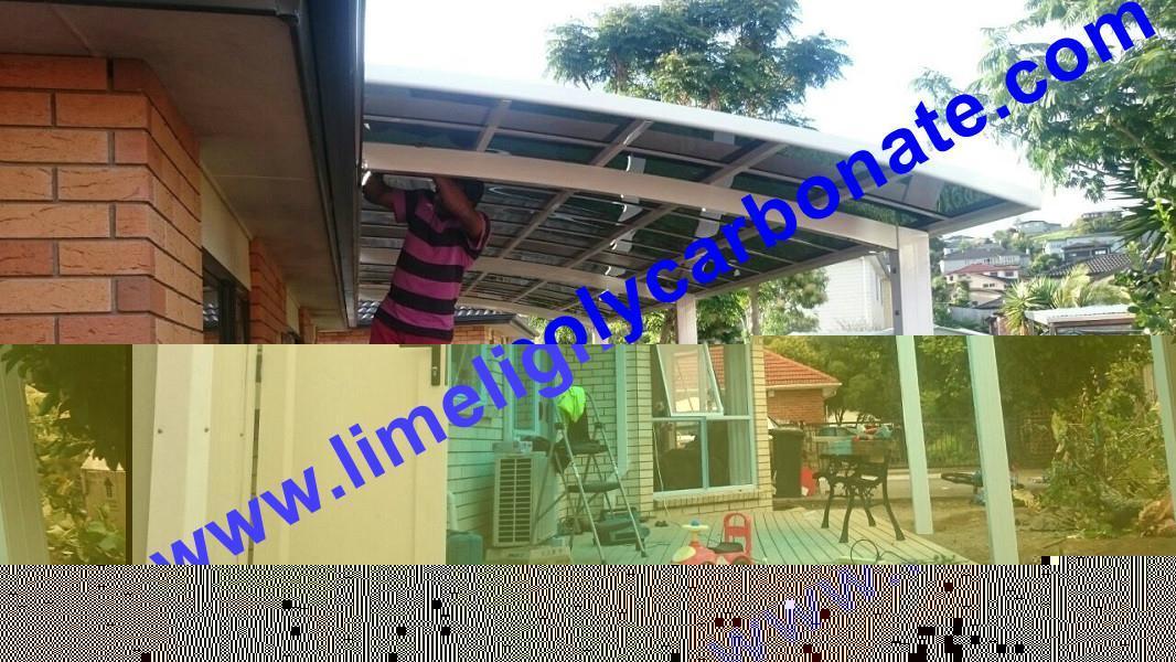 Aluminium patio shed