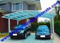 M shape aluminium carport