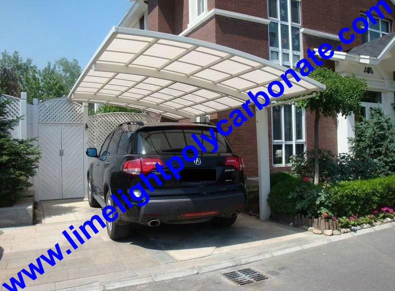 single aluminium awning with white frame and bronze polycarbonate solid roofing 8