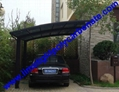 carport awning with powder coated aluminium alloy frame and polycarbonate sheet