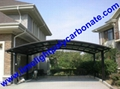 carport awning with powder coated aluminium alloy frame and polycarbonate sheet 9