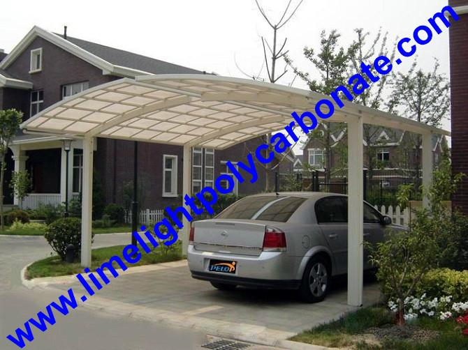 carport awning with powder coated aluminium alloy frame and polycarbonate sheet 11