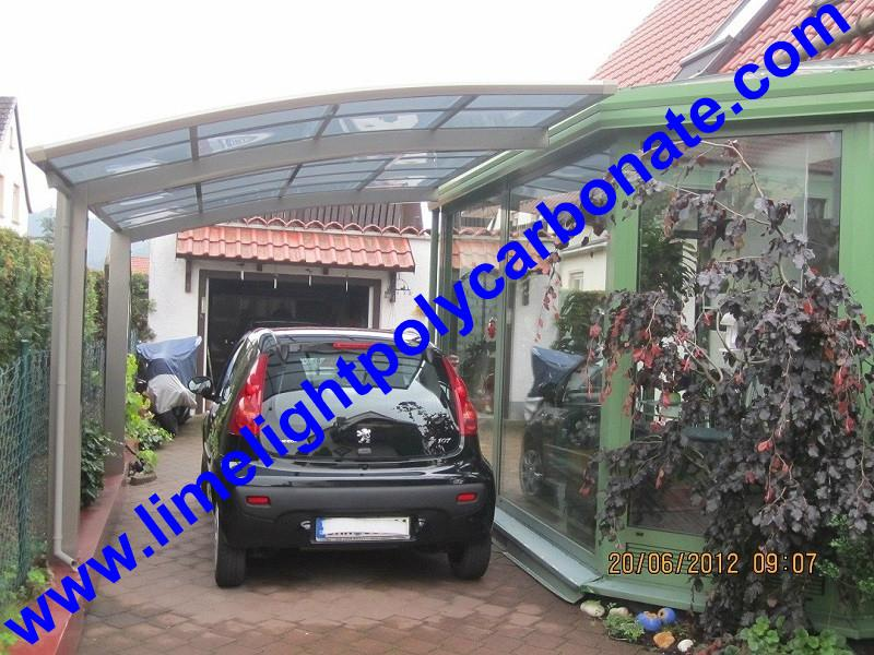 carport awning with powder coated aluminium alloy frame and polycarbonate sheet 12