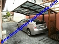 carport awning with powder coated aluminium alloy frame and polycarbonate sheet 14