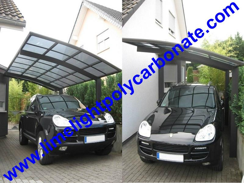 carport awning with powder coated aluminium alloy frame and polycarbonate sheet 15