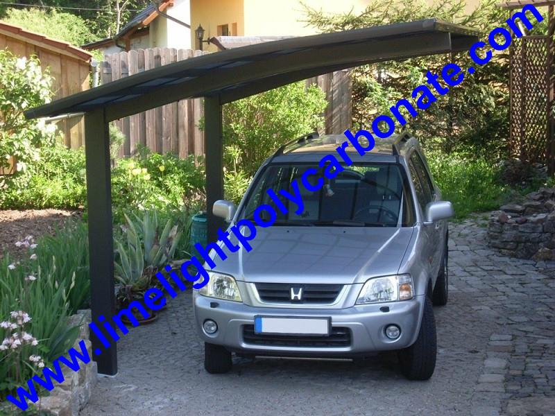 carport awning with powder coated aluminium alloy frame and polycarbonate sheet 16