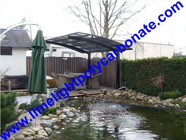 carport awning with powder coated aluminium alloy frame and polycarbonate sheet 17