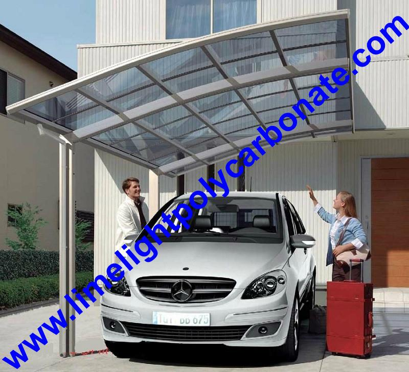 carport awning with powder coated aluminium alloy frame and polycarbonate sheet 18