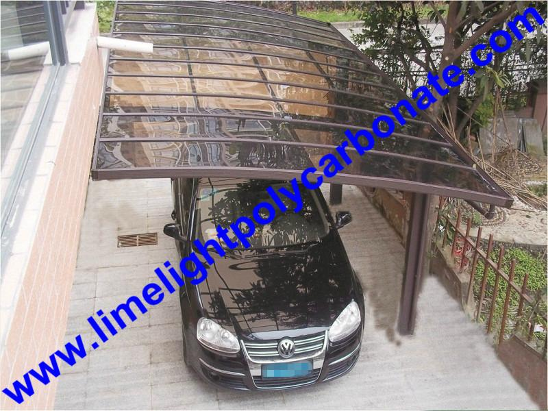 carport awning with powder coated aluminium alloy frame and polycarbonate sheet 19