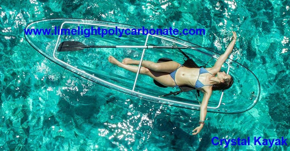clear kayak transparent kayak polycarbonate kayak crystal kayak see through kayak see bottom kayak clear canoe transparent canoe polycarbonate canoe crystal canoe see through canoe see bottom canoe PC canoe kayak paddling water sport kayak PC kayak full transparent kayak canoe