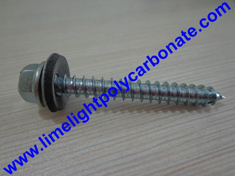 Self drilling wood screw with EPDM gasket for polycarbonate sheets & PVC sheets  3