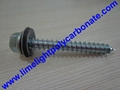 Self drilling wood screw with EPDM gasket for polycarbonate sheets & PVC sheets