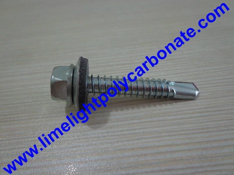 Self drilling metal screw with EPDM gasket for polycarbonate sheet & PVC sheets  4