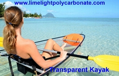 Transparent kayak clear canoe polycarbonate kayak crystal canoe see bottom kayak