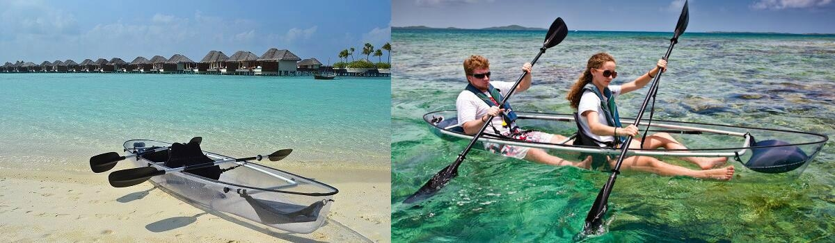 Full Transparent Kayak, Clear Kayak, Crystal Kayak, Clear Bottom Kayak, Sea Thru Kayak, Clear Canoe, Transparent Canoe, Crystal Canoe, See Bottom Canoe