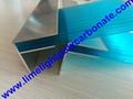 Aluminium F profile for end closure of
