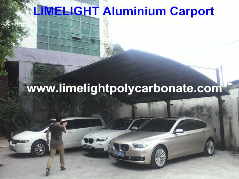 Cantilever carport with powder coated aluminium alloy frame and polycarbonate 3