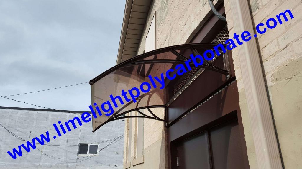 polycarbonate awning DIY awning door canopy window awning shelter rain shelter 4