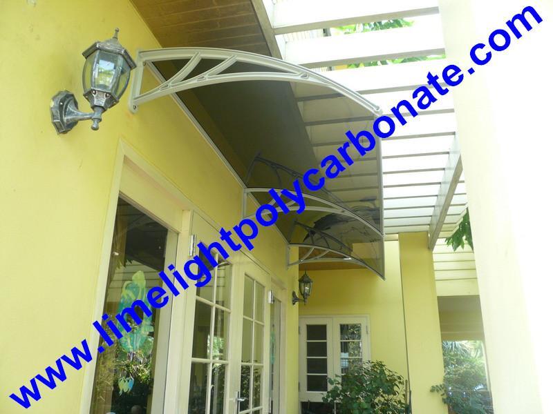 polycarbonate awning DIY awning door canopy window awning shelter rain shelter 5